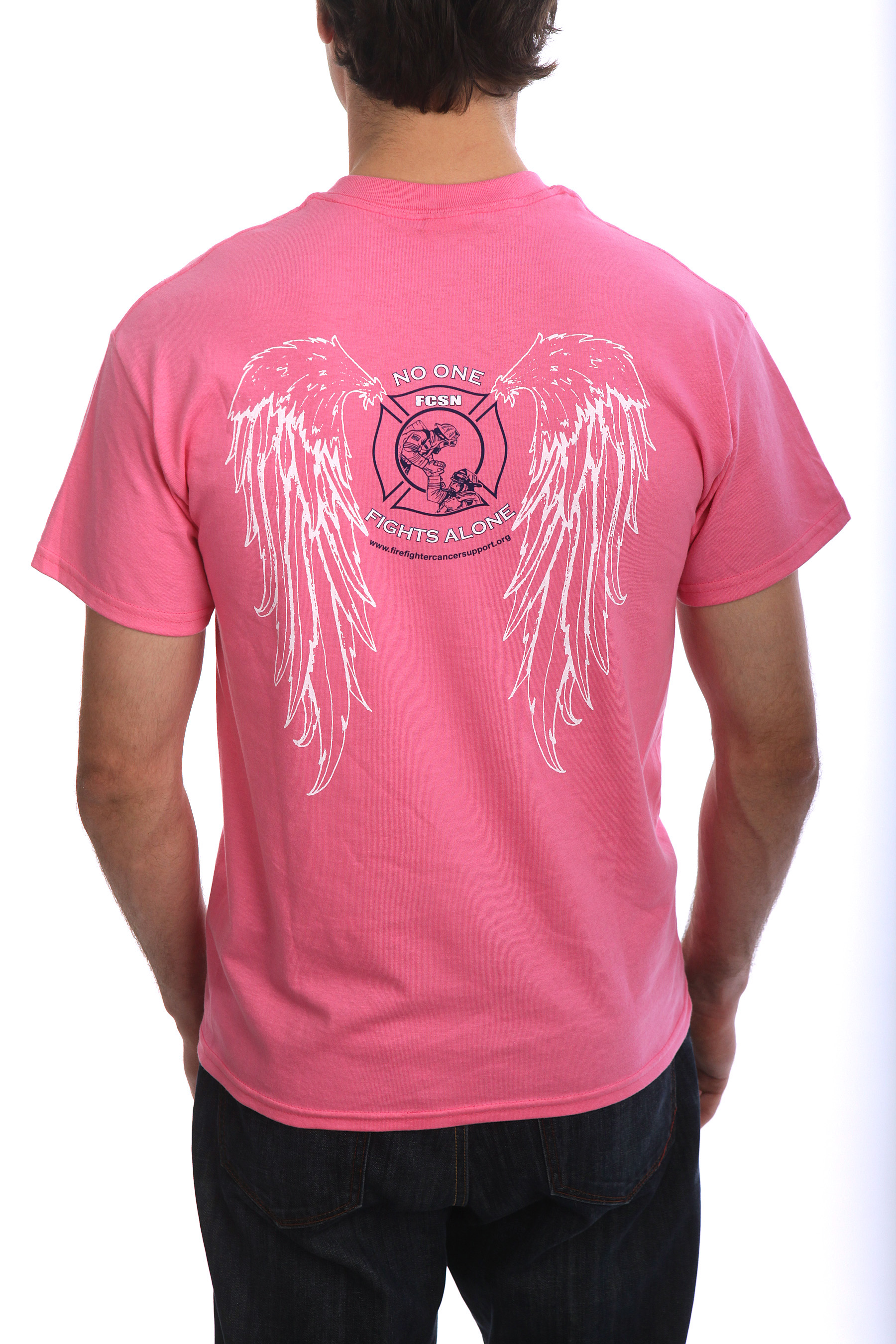No One Fights Alone - Angel Wings Men's T-Shirt