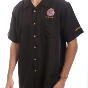 FCSN Men's Bowling Shirt - Black