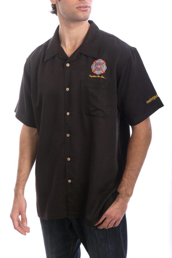 FCSN Men's Bowling Shirt - Black