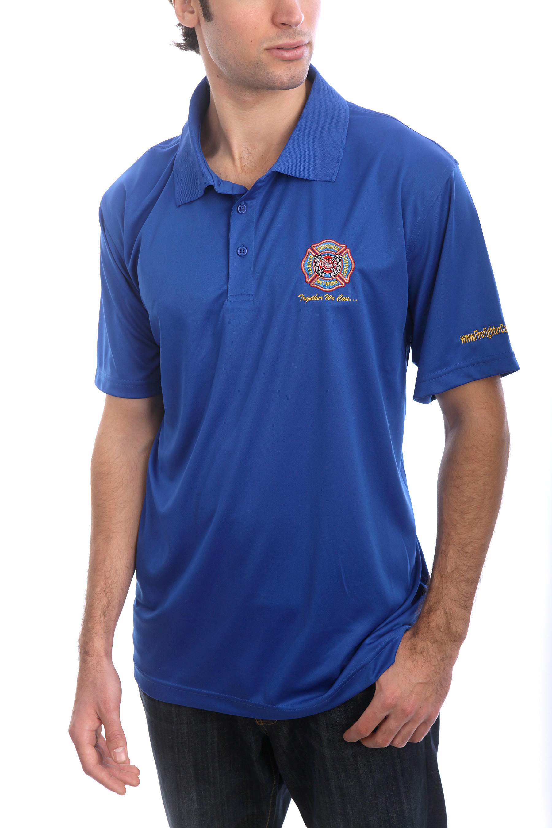FCSN Men's Golf Shirt - Royal Blue