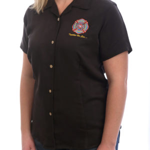 FCSN Women's Bowling Shirt - Black