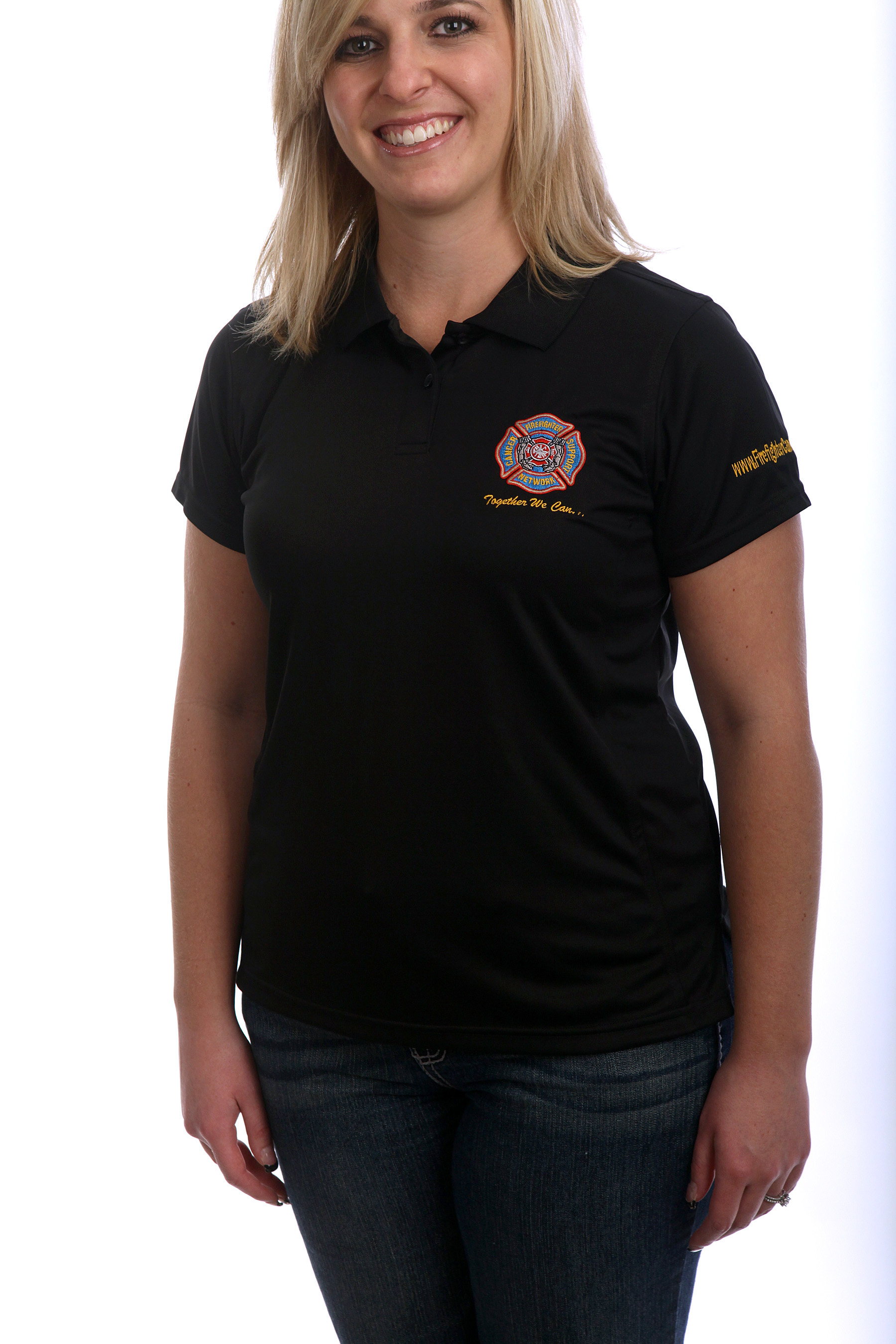 FCSN Women's Golf Shirt - Black