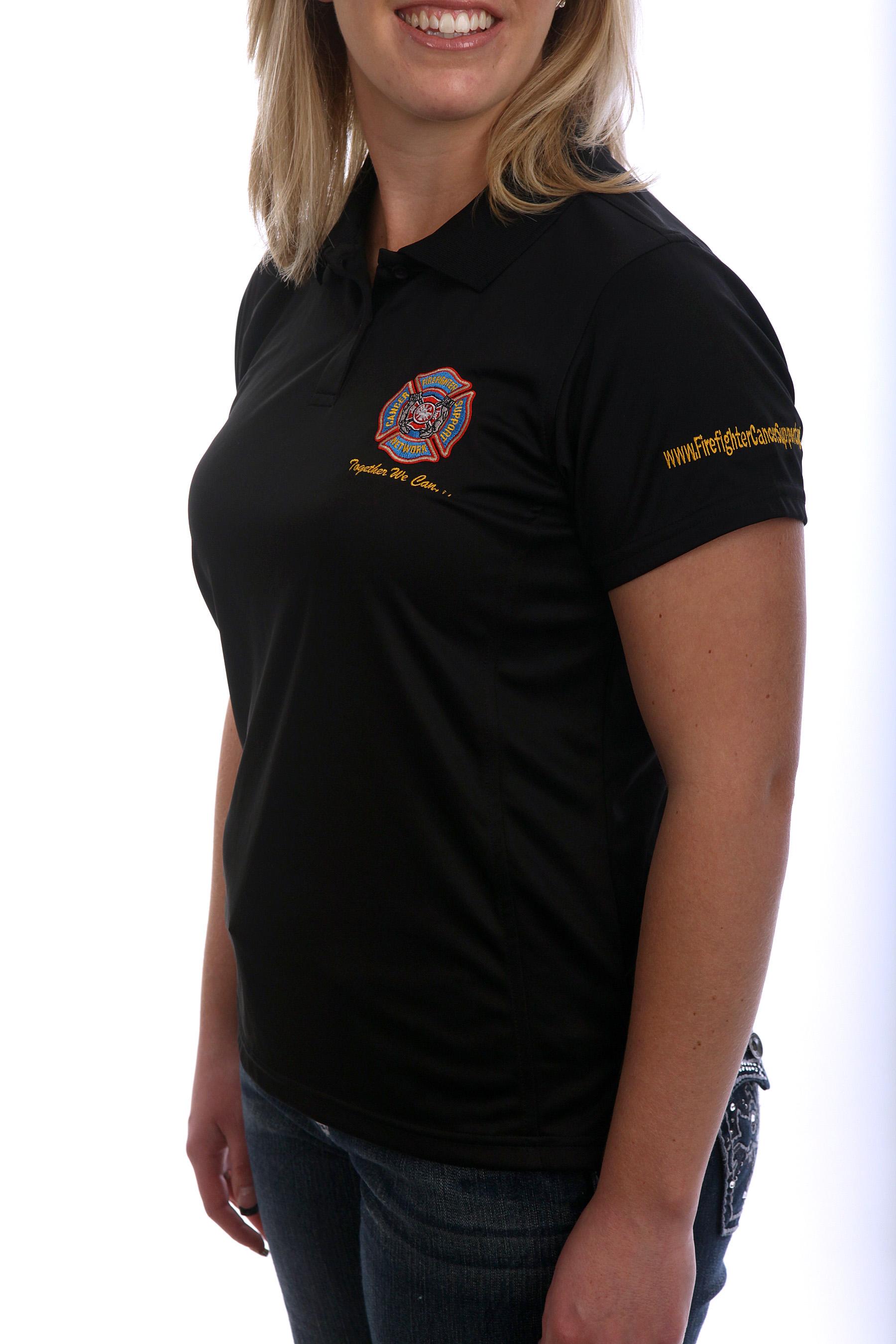FCSN Women's Golf Shirt - Black