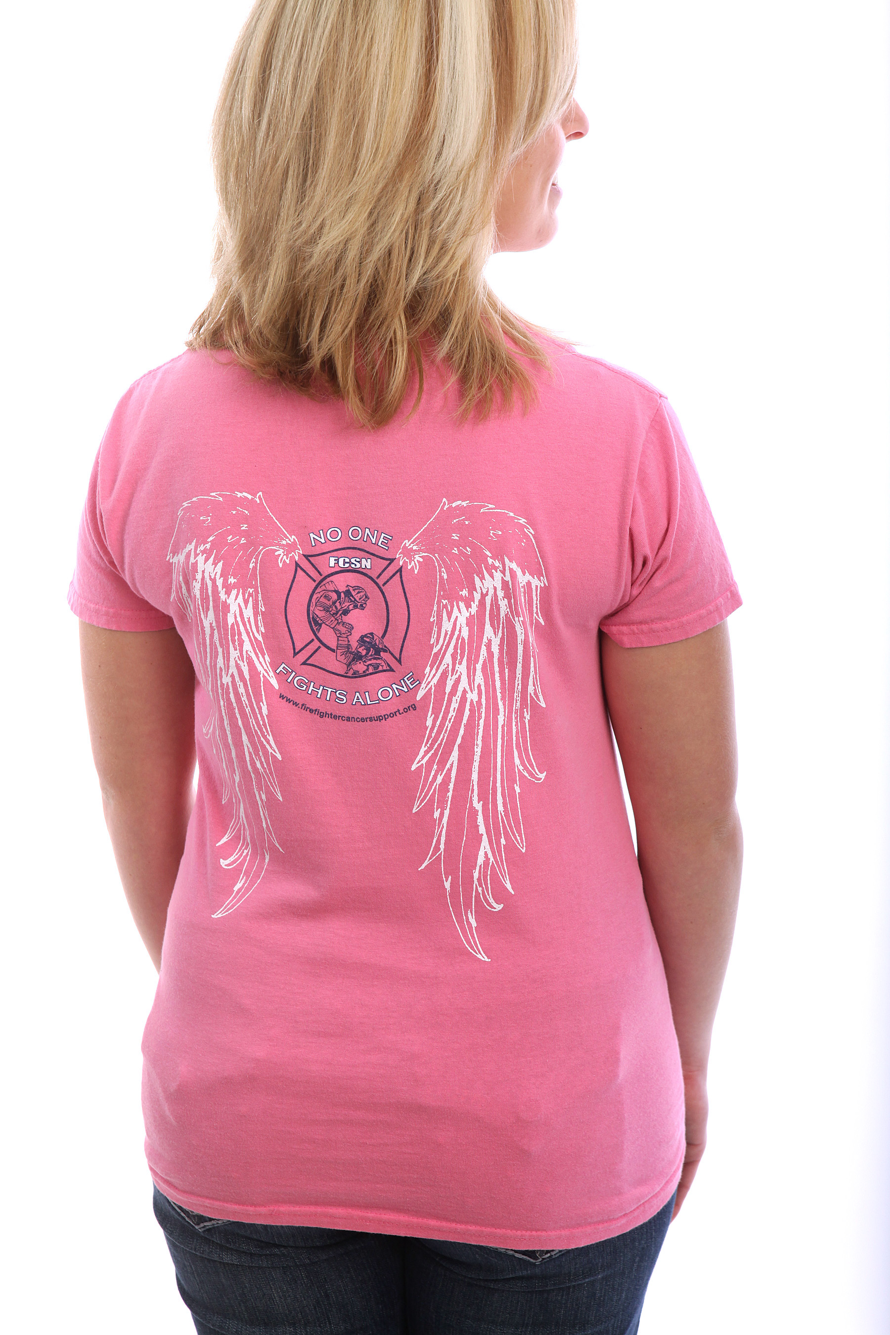 No One Fights Alone - Angel Wings Women's T-Shirt