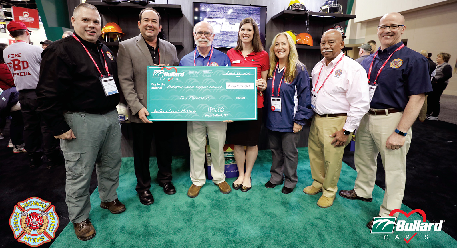 From Fcsn >> Bullard Donates To The Firefighter Cancer Support Network